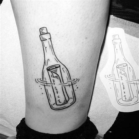 message in a bottle tattoo collection of 25 glass bottle and flower tattoos sketch