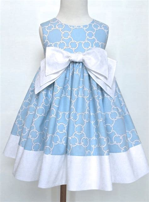 easter dress toddler easter dress blue and white paisley special