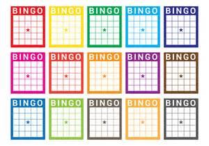 bingo card vector download free vector art stock