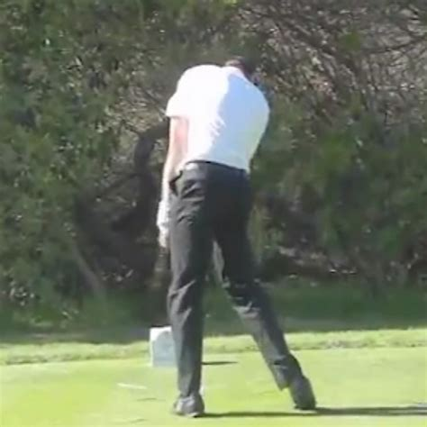 sean o hair golf swing sean o hair golf swing video 2013 rear view slow