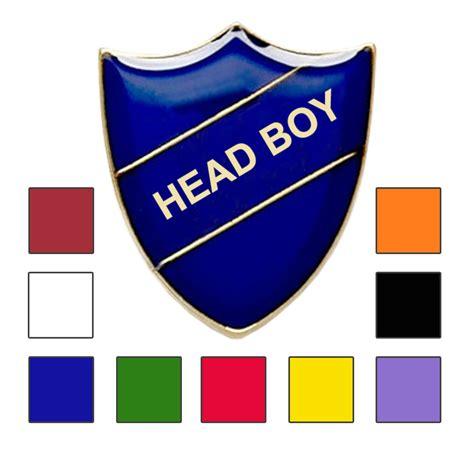 heaad shape boys head boy school badges shield shape