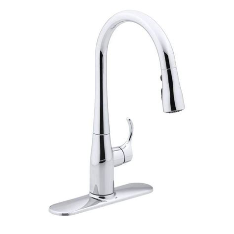 kohler simplice kitchen faucet kohler simplice single handle pull sprayer kitchen faucet in polished chrome k 597 cp the