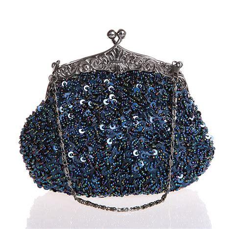 navy beaded clutch satin clutch evening bag navy blue promotion shop for