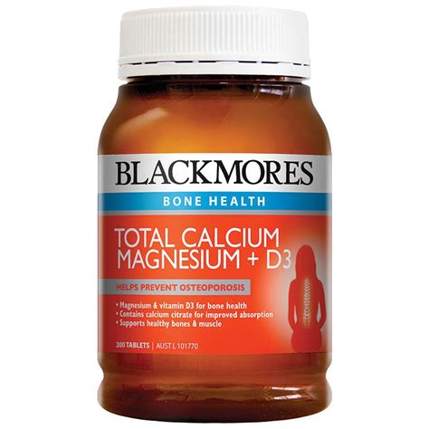 buy blackmores total calcium magnesium d3 200 tablets at chemist warehouse 174