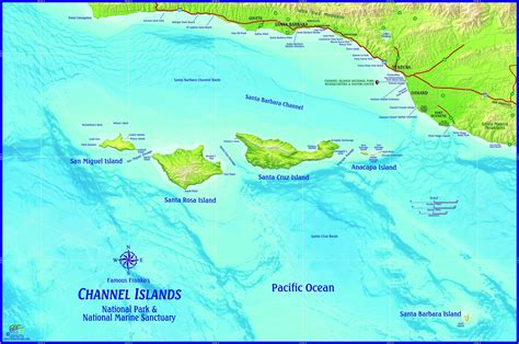 california map island channel islands national park california wall map maps