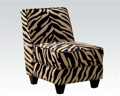 Zebra Accent Chair Acme Furniture Zebra Fabric Accent Chair Ac10070