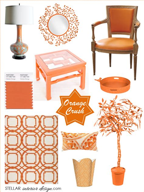 orange home decor accents decorating with orange accents