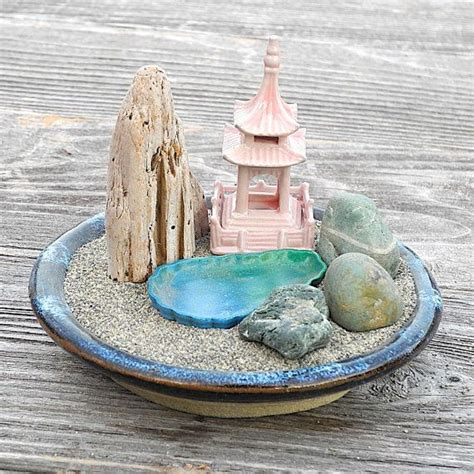 zen garten miniatur mini zen garden landscape with faux mountain lake and