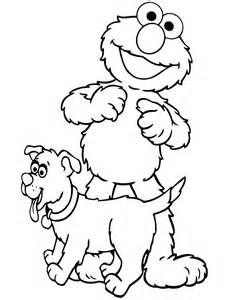 elmo coloring book elmo with puppy coloring page h m coloring pages
