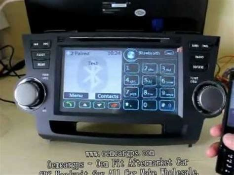 toyota highlander navigation dvd player youtube