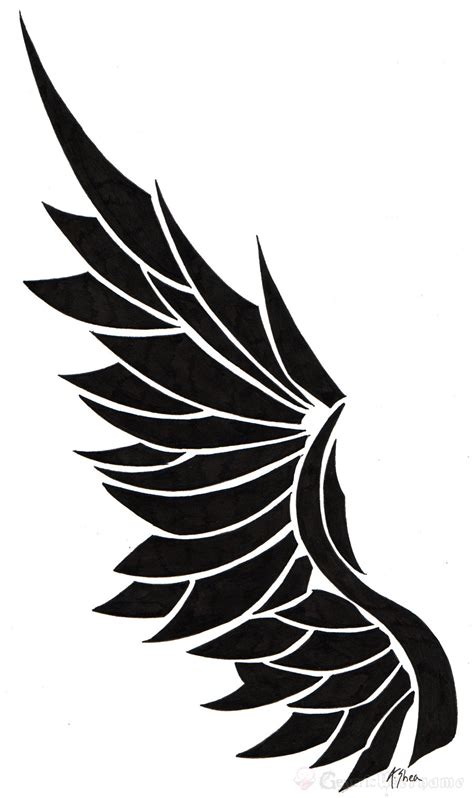 single wing tattoo designs wings logo cliparts co