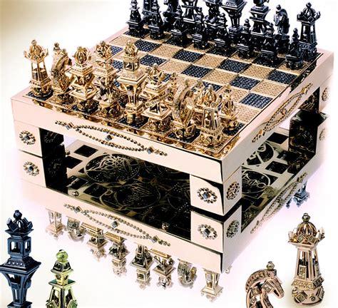 Fancy Chess Set 10 juegos de ajedrez realmente caros juegos de oro y