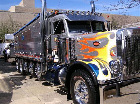 scow dump truck big rig trucks mid america truck show dump truck