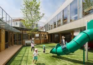 office courtyard design tadashi suga articulates kindergarten around a central