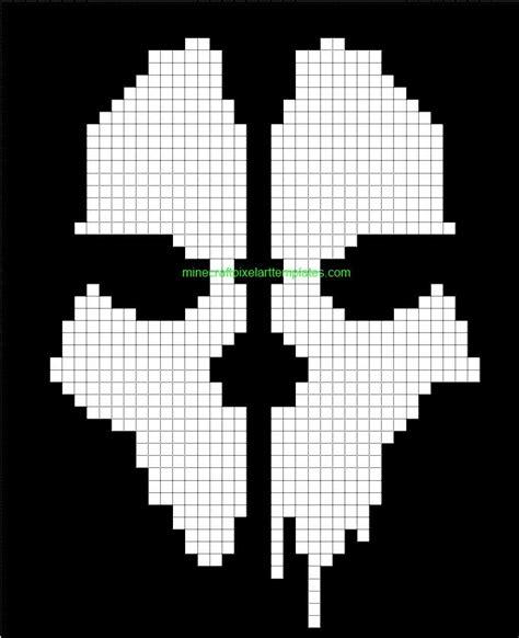 cod ghosts minecraft blueprints pixel art pinterest