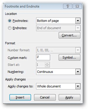 format all footnotes word how to use footnotes in microsoft word