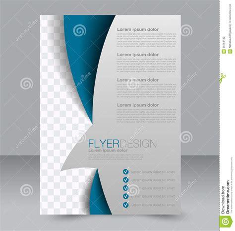 brochure design flyer template editable a4 poster stock