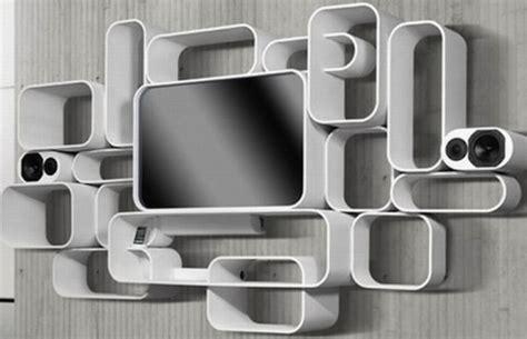 Moderno y curvo mueble para la tv   Interiores