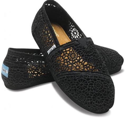Shop For A Cause Toms Shoes by Toms Crochet Black Shoes For Landau Store
