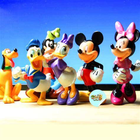 Sleeves Set Mickey Pluto Guffy free shipping 6pcs set mickey mouse clubhouse pvc toys mickey minnie goofy pluto donald duck