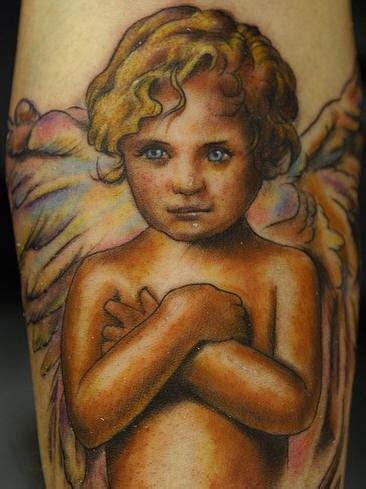 tattoo angel child baby cherub colourful tattoo tattooimages biz