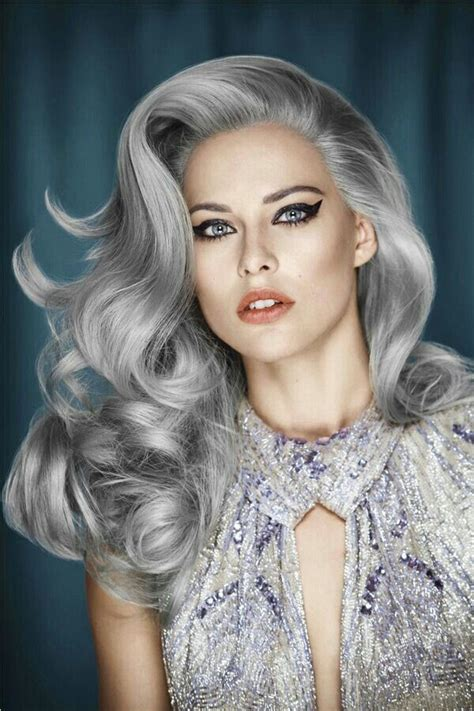 silver blue long hair pictures photos and images for facebook long silver hair hairstyles and color pinterest