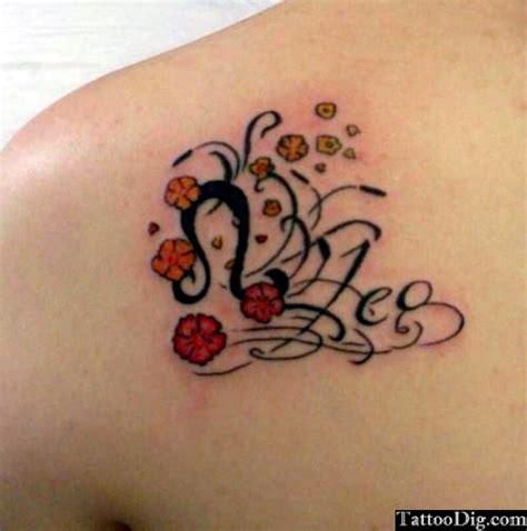 50 zodiac sign with flowers tattoos 50 zodiac sign with flowers tattoos