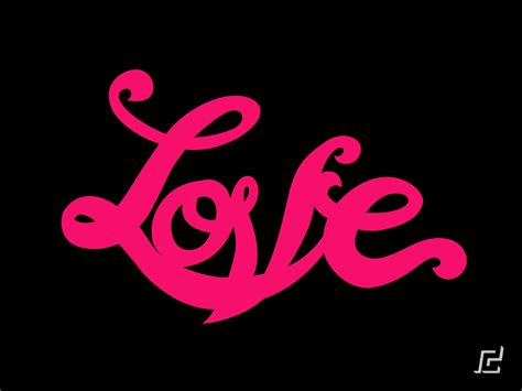 love you images with movimiento love typography design with depth animation by ralph cifra