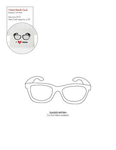 printable paper nerd glasses 134 best images about patterns for cards card bases