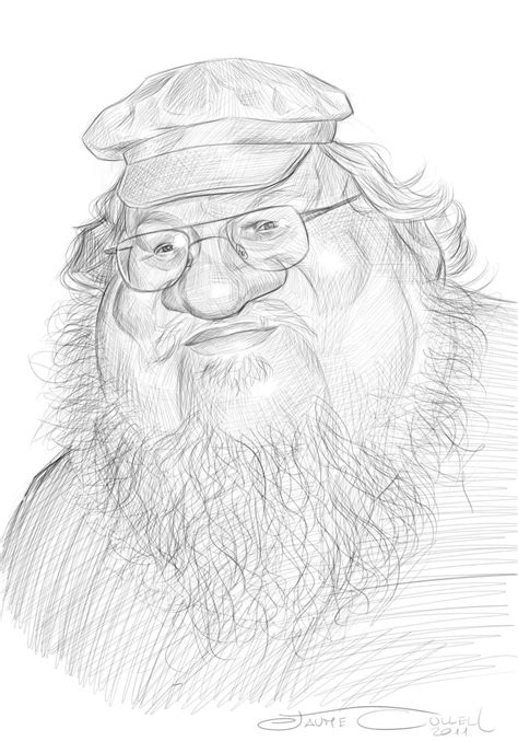 GEORGE RR MARTIN, SKETCH by JaumeCullell on deviantART