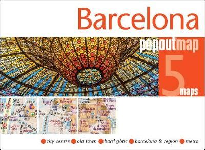 chicago popout map popout maps books barcelona popout map by popout maps waterstones