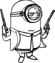 coloring pages guns image