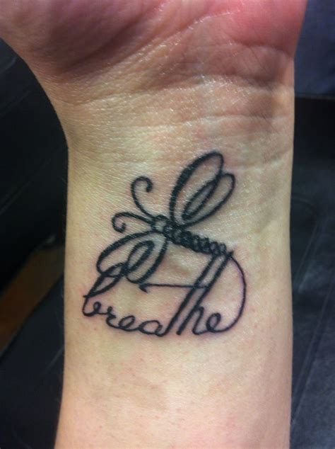 dragonfly tattoos on wrist breathe but with a butterfly fibro ideas