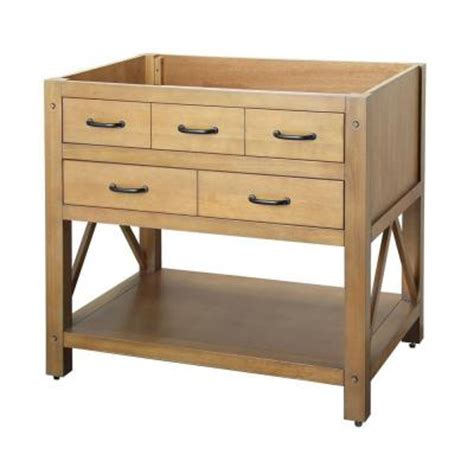 36 Vanity Cabinet Only foremost avondale 36 in vanity cabinet only in weathered pine