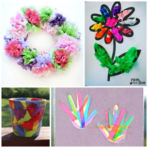 Paper And Glue Crafts - beautiful tissue paper crafts for what can we do
