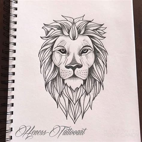 lion geometric tattoo best 25 geometric ideas on