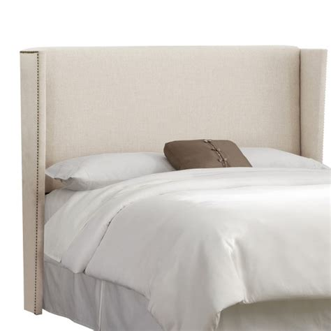 headboards at target nail button wingback headboard skyline target