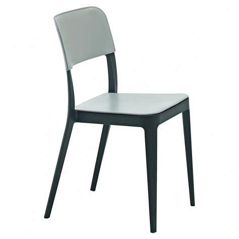 sedie midj sedia midj in polipropilene e cuoio nen 232 cu arredas 236