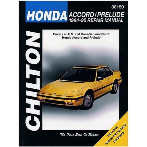 car maintenance manuals 1984 honda prelude interior lighting 1984 1995 honda accord civic prelude repair chilton total car care manual northern auto parts