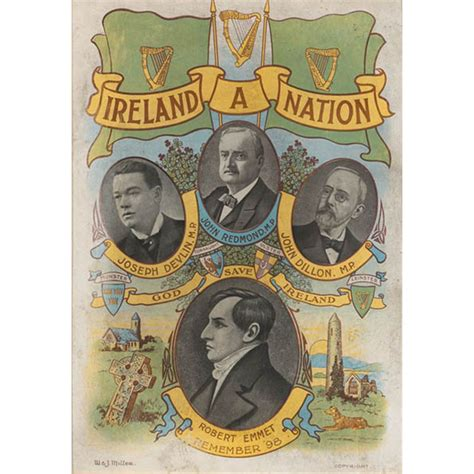 circa 1910 home rule quot ireland a nation quot print