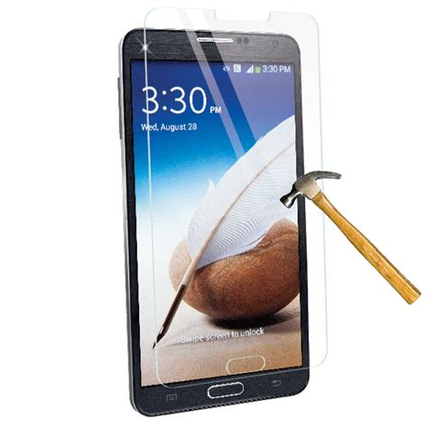 Samsung Note3 Note 3 Tempered Glass Screen Guard Anti Gores samsung note 3 tempered glass screen protector kit