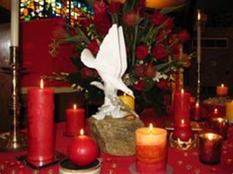 pentecost flower arrangement  red/orange symbolizing fire