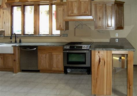 natural hickory kitchen cabinets kitchen bar traditional hickory kitchen cabinets with