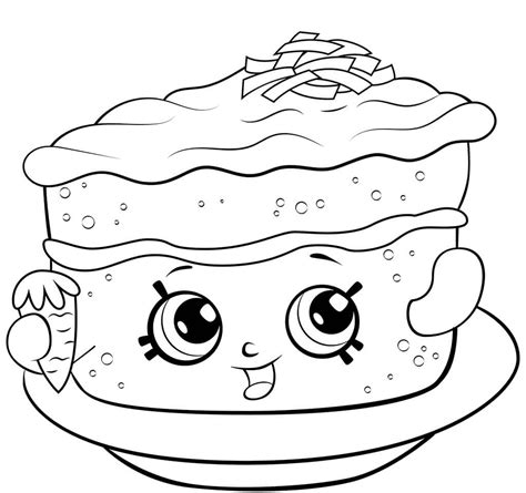 carrot cake coloring pages new shopkins coloring pages season 6 collection