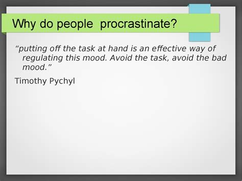 procrastination avoidance that works beating the bad habit and yourself productive books how to overcome procrastination presentation