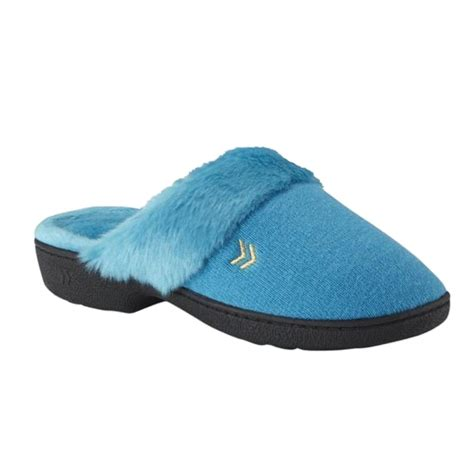 terry cloth slippers isotoner womens blue terry cloth slippers fur house shoes