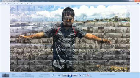 membuat foto mozaik  photoshop youtube