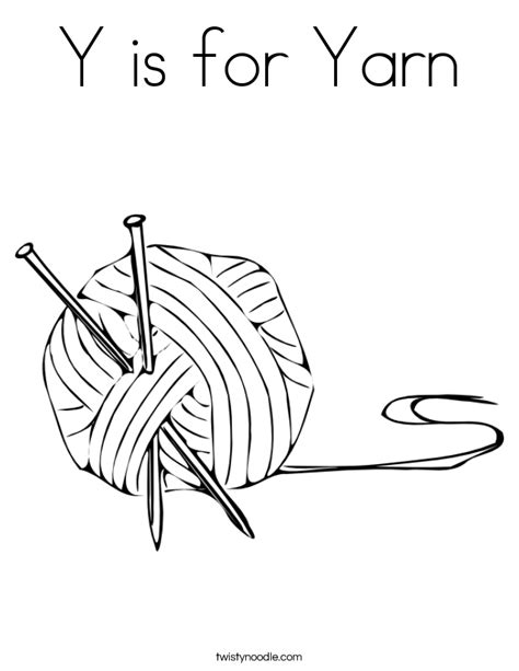 yarn coloring page twisty noodle