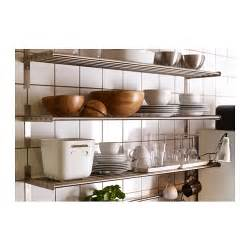 grundtal wall shelf stainless steel 120 cm ikea