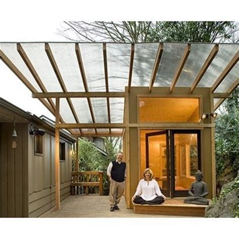 clear pergola cover meditation hut polycarbonate clear roof deck cover other meditation and sheds